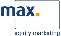 Logo der max. Equity Marketing GmbH
